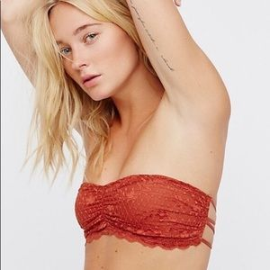 Free People terra-cotta color lace bandeau